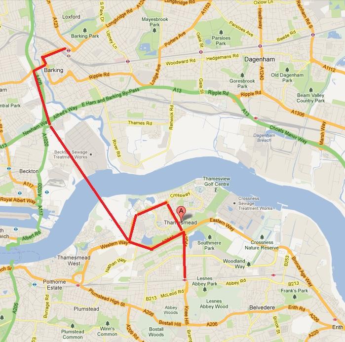 thamesmead bus plan