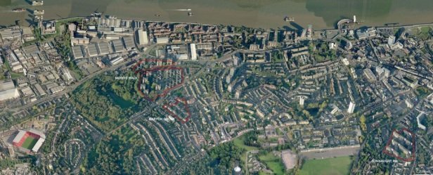 Woolwich Estate Aerial View