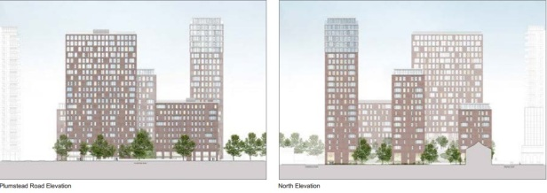 crossrail towers woolwich plans jan 2014 elevations