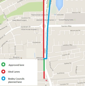Abbey Wood cycle lane map