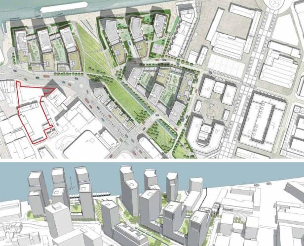 Callis Yard overhead render