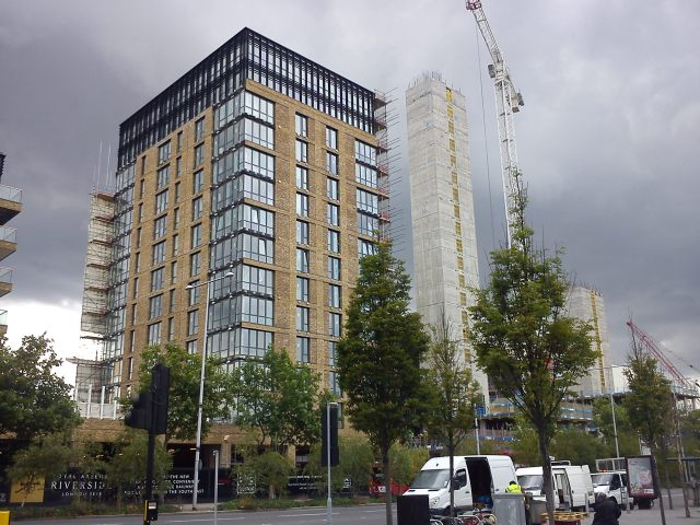 New build above Woolwich Crossrail