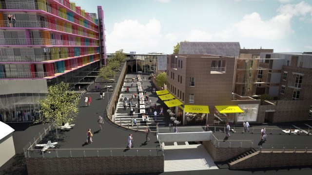 Now under construction directly next to Deptford station