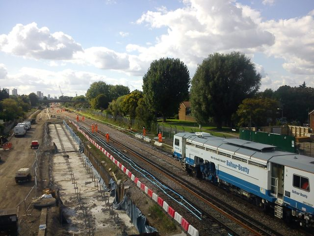 Crossrail track & bridge work