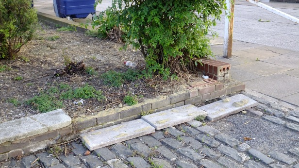Usual Greenwich Borough public realm maintenance. Really, this is common!