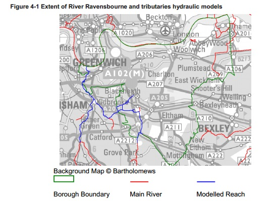 river map Greenwich flood report 2011