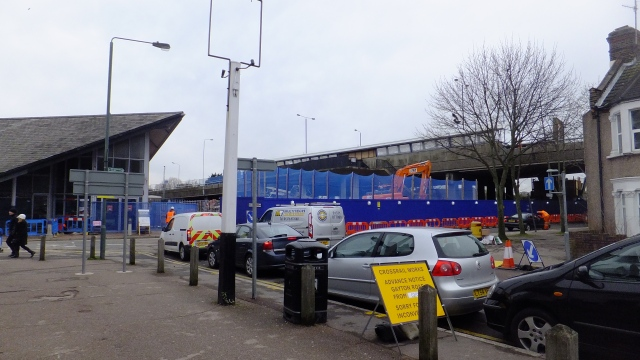 Abbey Wood station walkway demolition