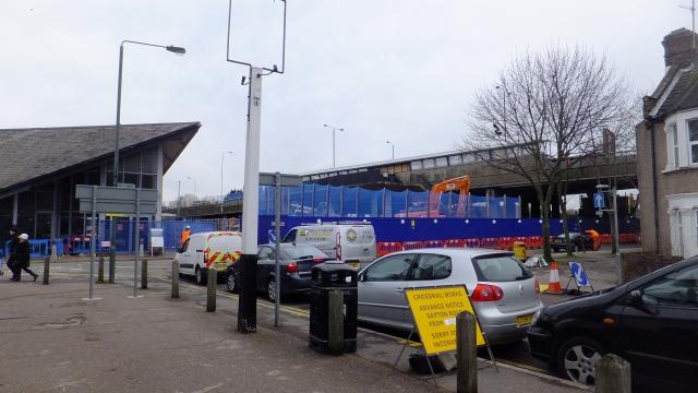 Abbey Wood station walkway demolition