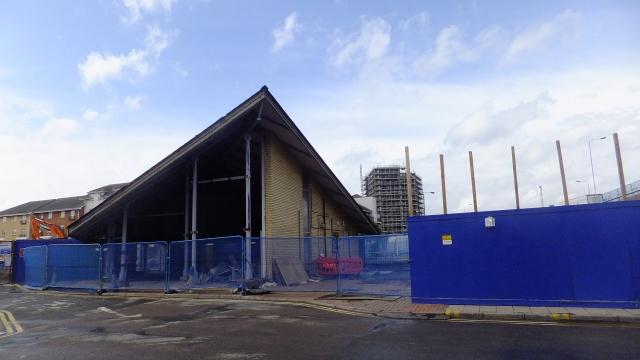 Abbey Wood station demolition