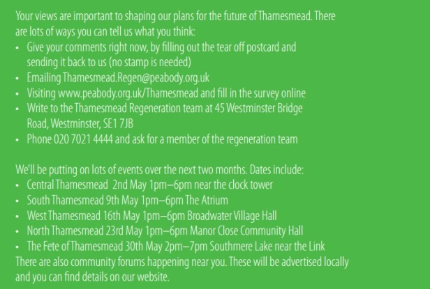 Thamesmead consultation