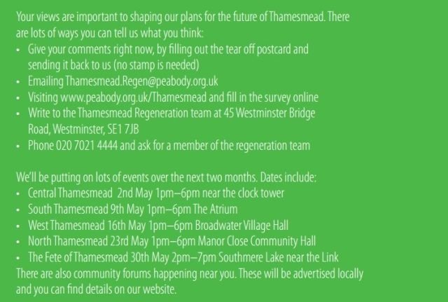 Thamesmead consultation