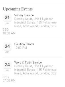 Events listed this coming week at site