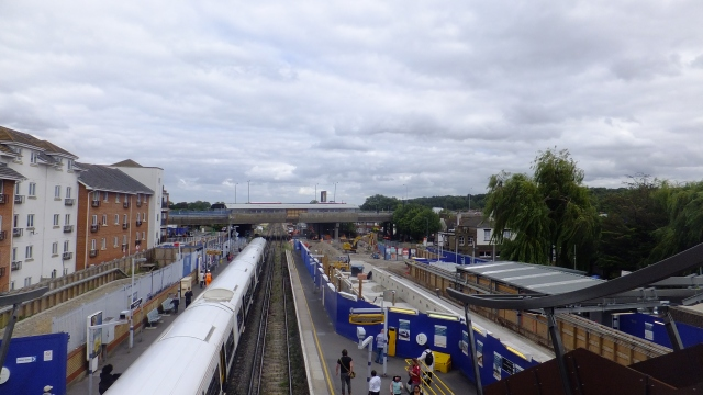 Abbey Wood station construction