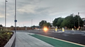 Cycle lane appears to halt