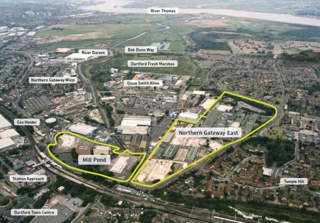 Dartford sites aerial