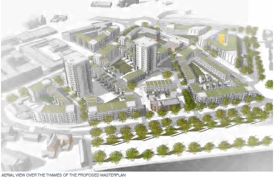 Erith masterplan render