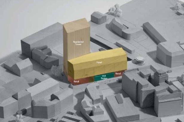 Woolwich DLR model Allies & Morrison