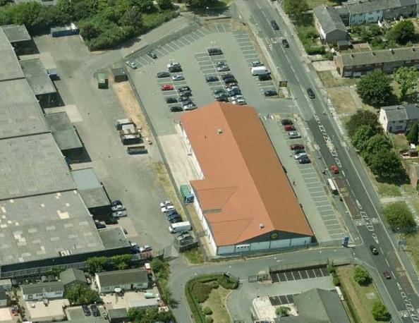 lidl store aerial