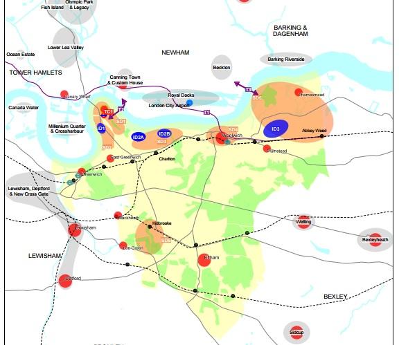 district centre maps