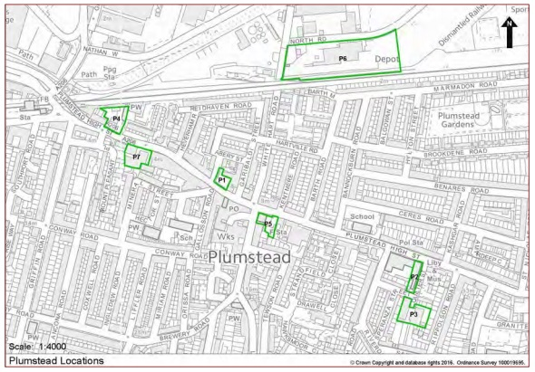 Plumstead development sites