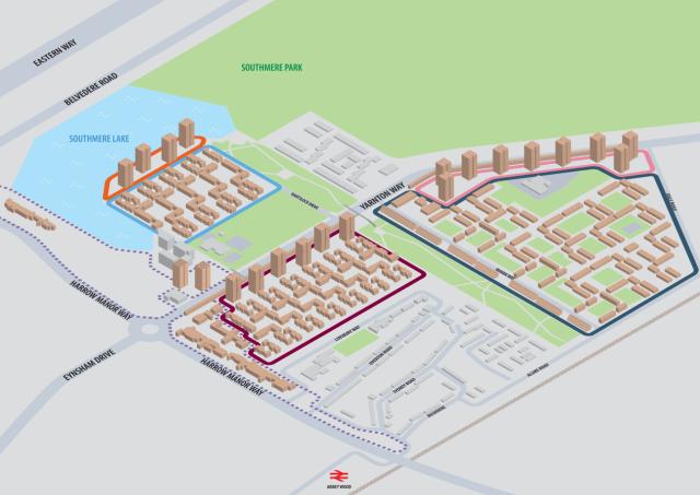 thamesmead development map