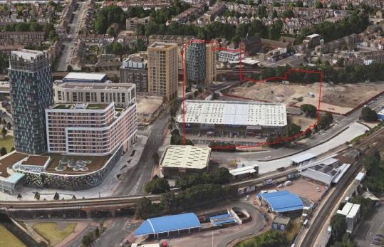 retail park aerial